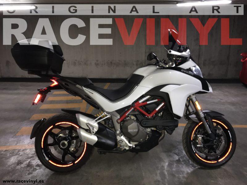 Ducati Corse Multistrada de Mauro Guzzi kit de pegatinas y adhesivos para llantas de moto speed con logotipo rim sticker stripes vinyl Reflectant