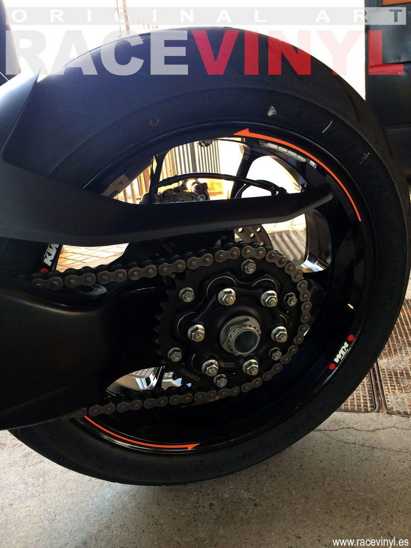 KTM 1290 Super Duke R 03 Sergi Servian racevinyl vinilo llanta rueda pegatina adhesivo tuning vinyl sticker rim kit stripe