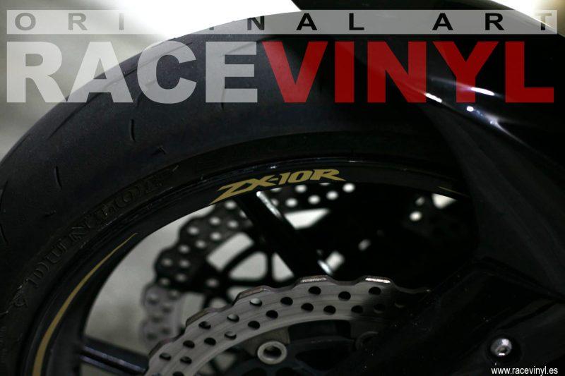 Racevinyl 04 KAWASAKI ZX10R Adrian Ortega racevinyl vinilo llanta rueda pegatina adhesivo tuning vinyl sticker rim kit stripe