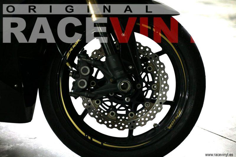 Racevinyl 05 KAWASAKI ZX10R Adrian Ortega racevinyl vinilo llanta rueda pegatina adhesivo tuning vinyl sticker rim kit stripe