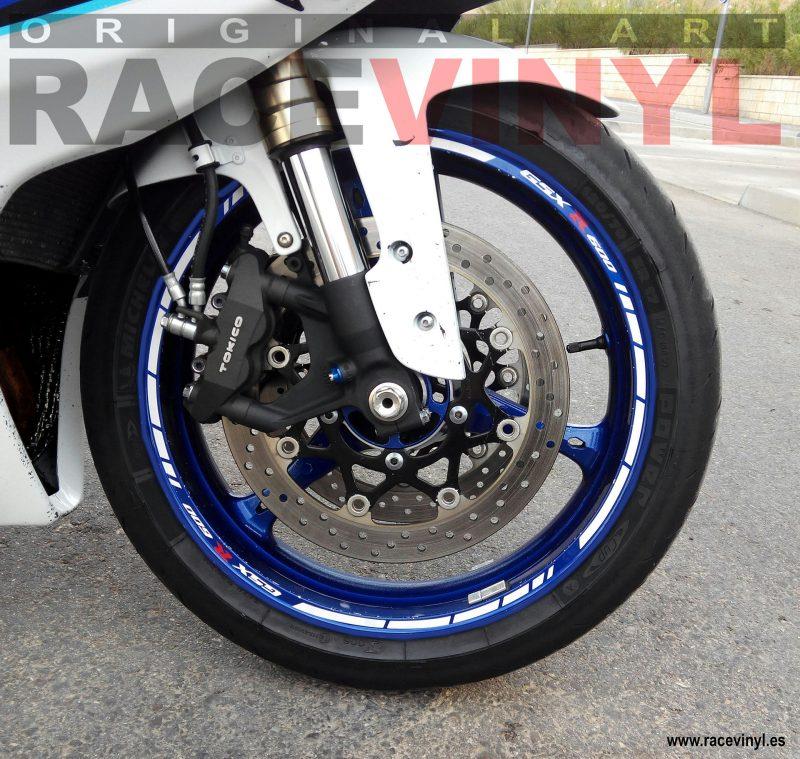 Racevinyl SUZUKI GSX R 600 03 1000 750 1300 R vinilo pegatina llanta rueda moto kit banda logo vinyl rim sticker adhesive bike motorcycle tuning stripes