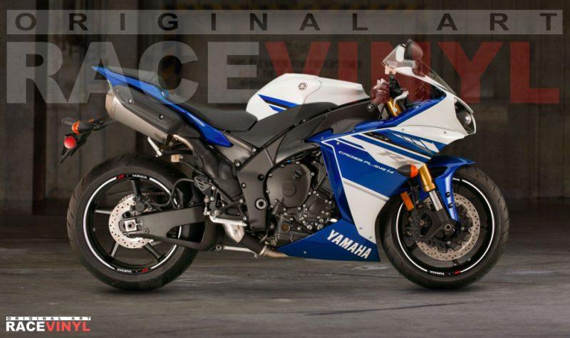 Racevinyl YZF R1 R6 1000 R 600 125 R Thunderace pegatina adhesivo rueda llanta vinilo rim sticker stripe vinyl wheel 01
