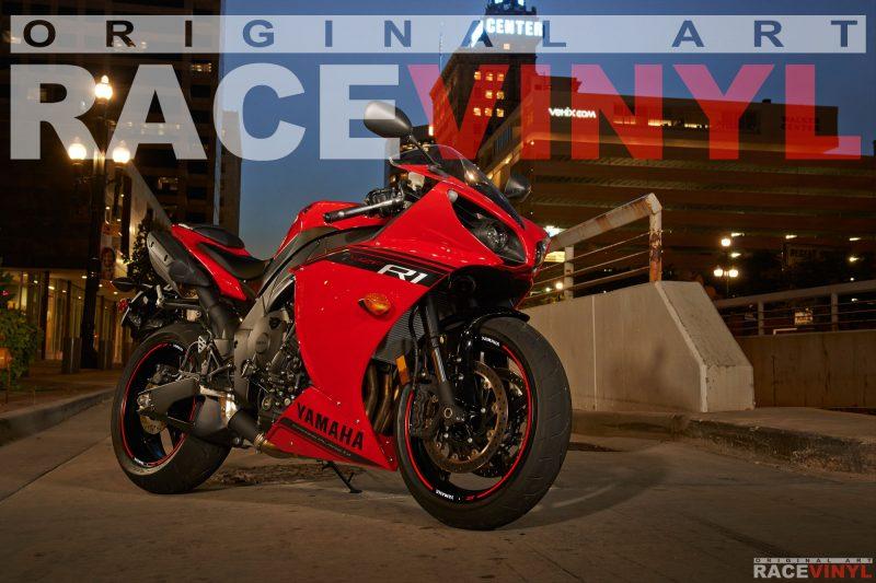 Racevinyl YZF R1 R6 1000 R 600 125 R Thunderace pegatina adhesivo rueda llanta vinilo rim sticker stripe vinyl wheel 07