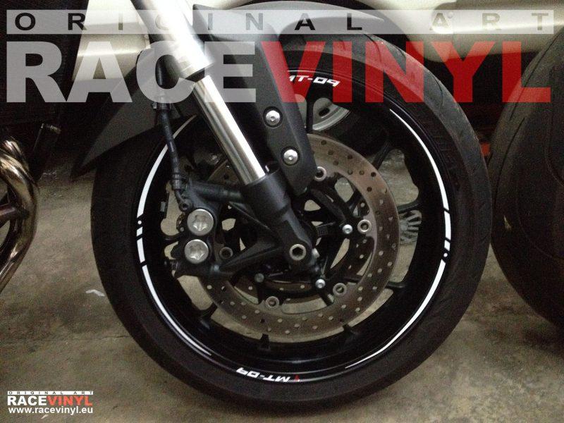 Yamaha MT 09 FZ9 delantera pegatina llanta moto rueda vinilo adhesivo rim sticker stripe kit adhesive vinyl tuning