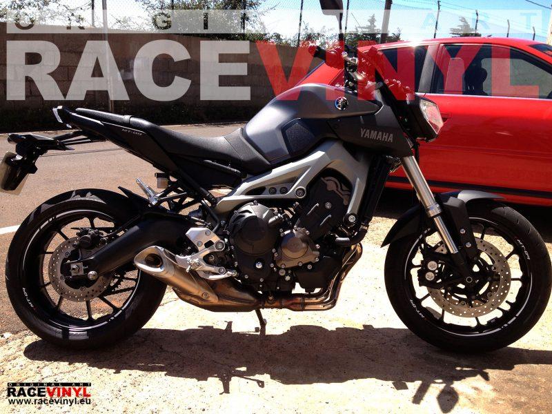 Yamaha MT 09 FZ9 general pegatina llanta moto rueda vinilo adhesivo rim sticker stripe kit adhesive vinyl tuning