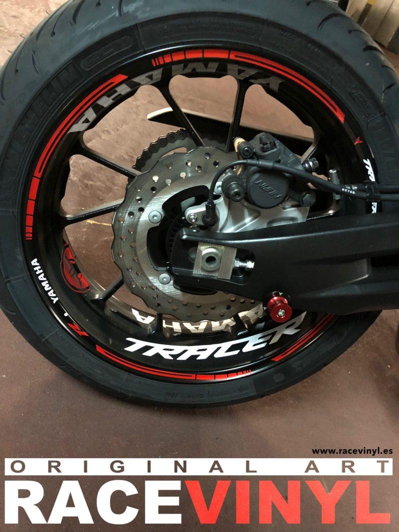 Yamaha MT07 MT 07 tracer Kit pro adhesivos pegatinas vinilo para llantas contorno interior llantas rim sticker vinyl motorbike moto wheel 01