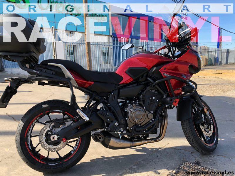 Yamaha MT07 MT 07 tracer Kit pro adhesivos pegatinas vinilo para llantas contorno interior llantas rim sticker vinyl motorbike moto wheel 02