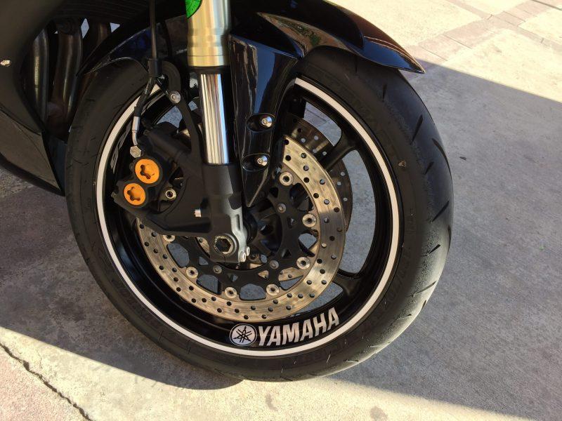 Yamaha R6 Vinilos adhesivos para el interior de la llanta delantera