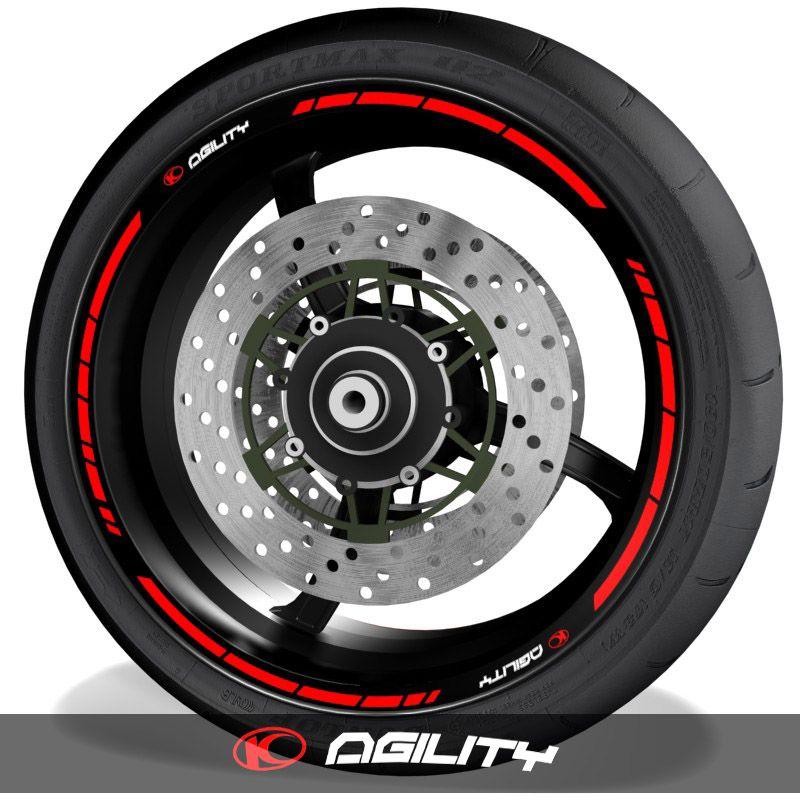 Adhesivos de moto pegatinas para el perfil de llantas logo Kymco Agility speed