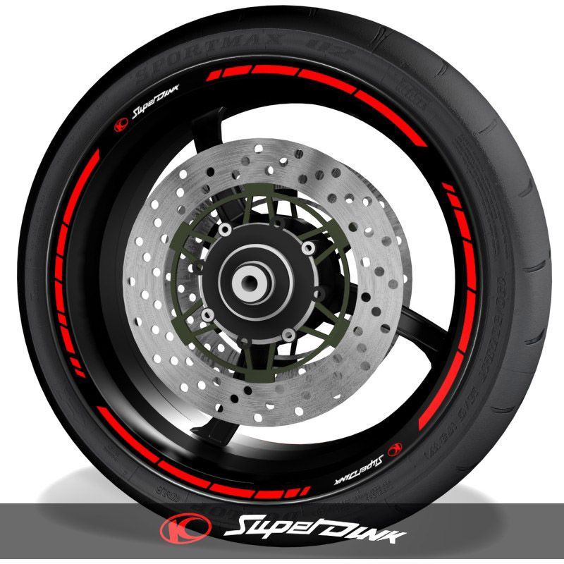 Pegatinas de moto adhesivos para el perfil de llantas logo Kymco Superdink speed