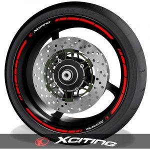 Pegatinas para el perfil de llantas vinilos para motos Kymco Xciting speed