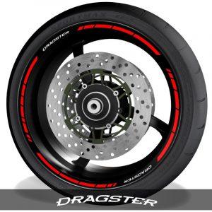 Pegatinasvinilos para perfil de llantas logos MV Agusta Dragster speed