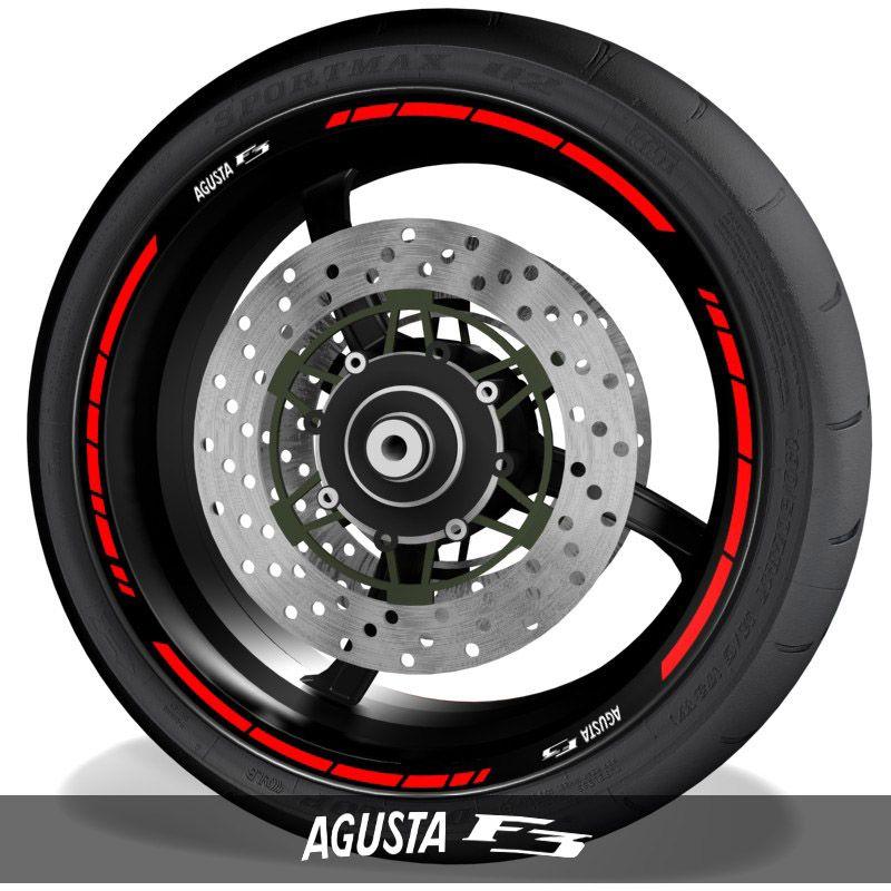 Adhesivosvinilos para perfil de llantas logos MV Agusta F3 speed
