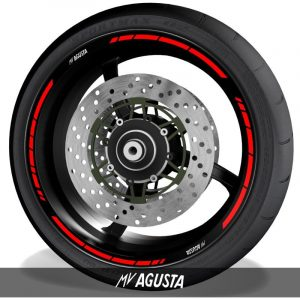 Adhesivospegatinas para perfil de llantas logos MV Agusta speed