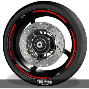Pegatinasvinilos para perfil de llantas logos Triumph speed