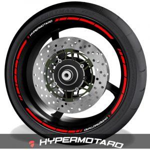 Adhesivos de moto pegatinas para el perfil de llantas logo Ducati Hypermotard speed