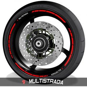 Vinilos de moto pegatinas para el perfil de llantas logo Ducati Multistrada speed