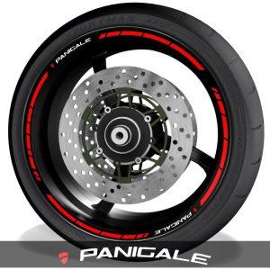 Pegatinas de moto vinilos para el perfil de llantas logo Ducati Panigale speed
