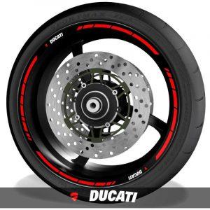 Adhesivos para perfil de llantas pegatinas de moto con logo Ducati speed