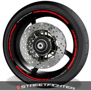 Vinilos de moto adhesivos para el perfil de llantas logo Ducati Streetfighter speed