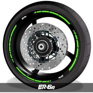 Pegatinas de llantas vinilos para perfil de ruedas logo Kawasaki ER6N speed