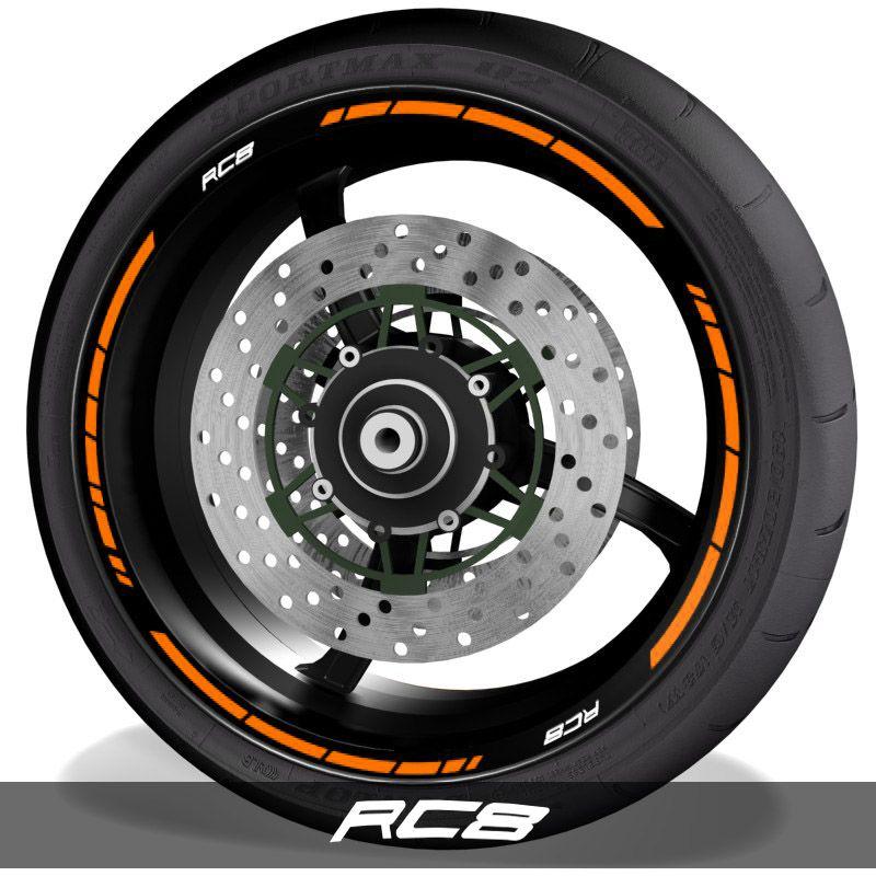 Adhesivospegatinas para perfil de llantas logos KTM RC8 speed
