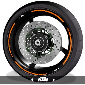 Pegatinasadhesivos para perfil de llantas logos KTM speed