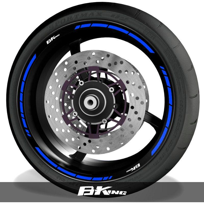 Vinilos para perfil de llantas adhesivos de moto logos Suzuki BKing speed