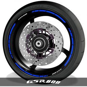 Pegatinas y vinilos para perfil de llantas de moto logos Suzuki GSR600 speed