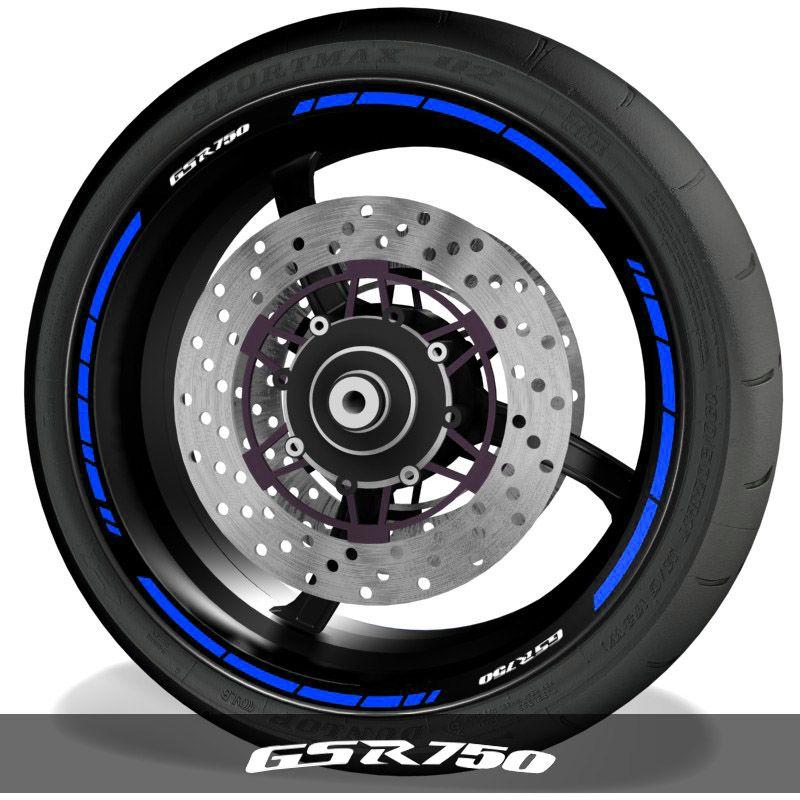Pegatinas para perfil de llantas vinilos de moto logos Suzuki GSR750 speed
