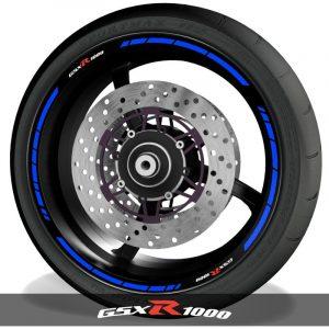 Adhesivos y vinilos para perfil de llantas de moto logos Suzuki GSXR1000 speed