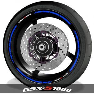 Vinilos para perfil de llantas pegatinas de moto logos Suzuki GSXS1000 speed