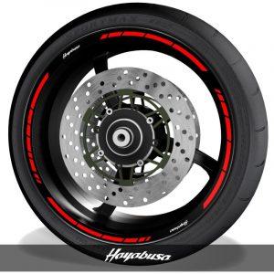 Adhesivos de moto pegatinas para perfil de llantas logos Suzuki Hayabusa speed