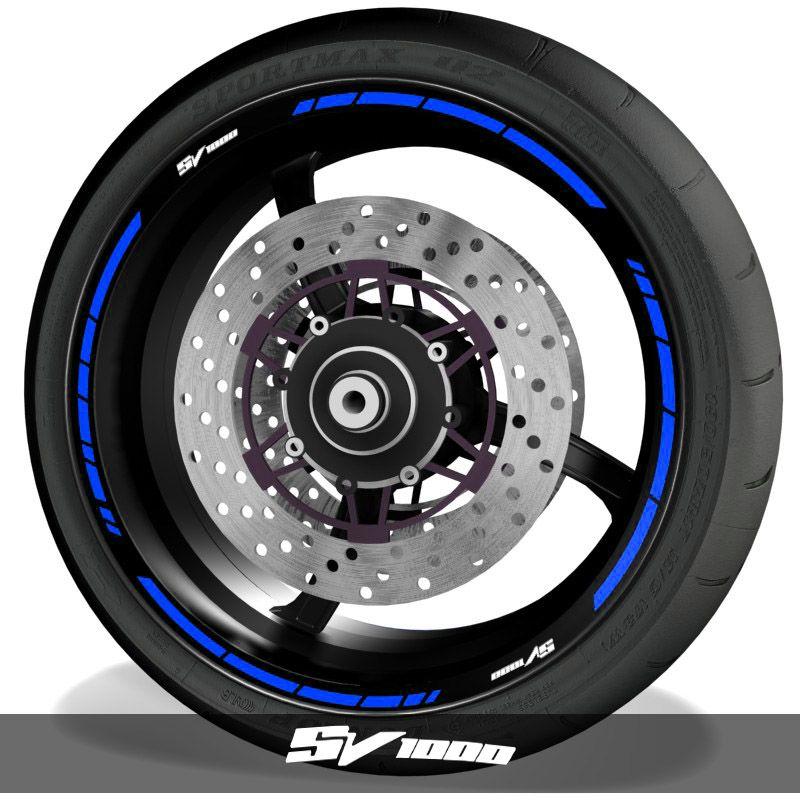Vinilos de moto pegatinas para perfil de llantas logos Suzuki SV1000 speed