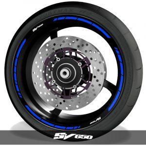 Vinilos de moto adhesivos para perfil de llantas logos Suzuki SV650 speed
