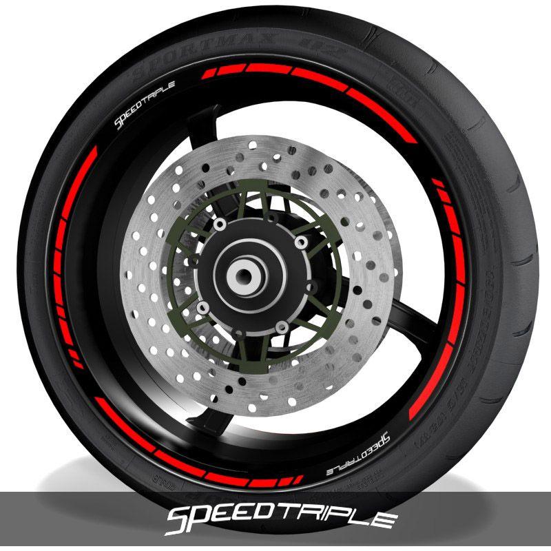 Vinilospegatinas para perfil de llantas logos Triumph Speedtriple speed