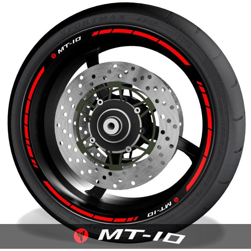 Vinilos y pegatinas para perfil de llantas de moto logos Yamaha MT10 speed