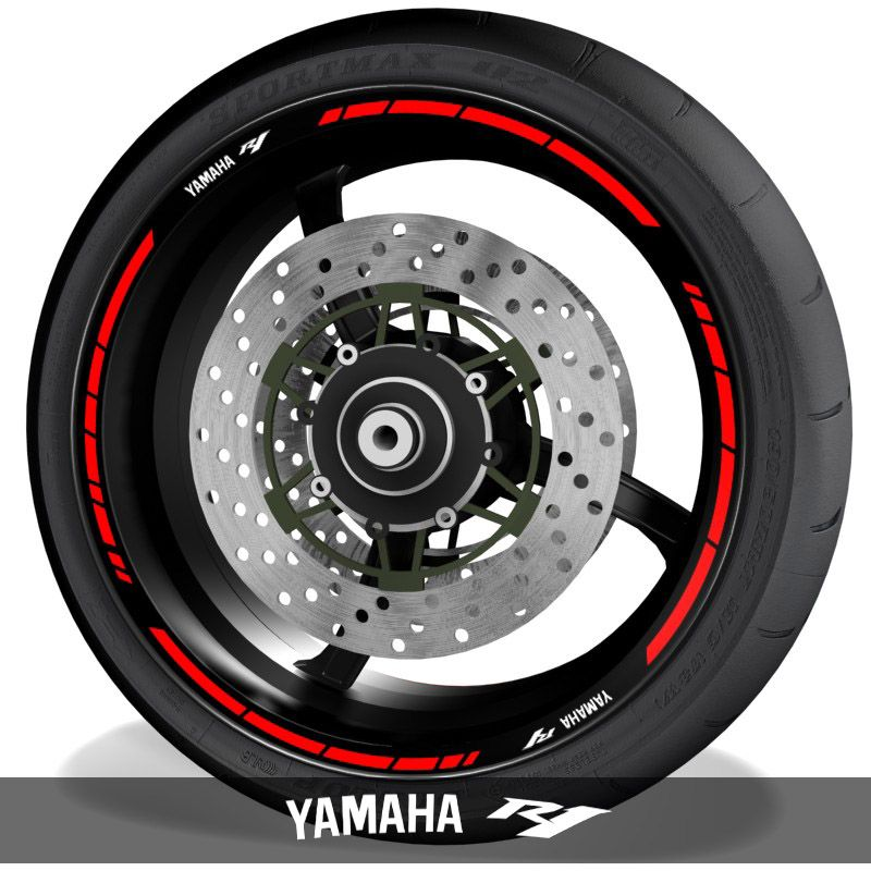 Pegatinasvinilos para perfil de llantas logos Yamaha YZF R1 speed
