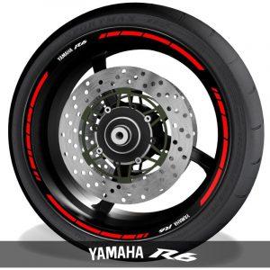 Adhesivosvinilos para perfil de llantas logos Yamaha YZF R6 speed