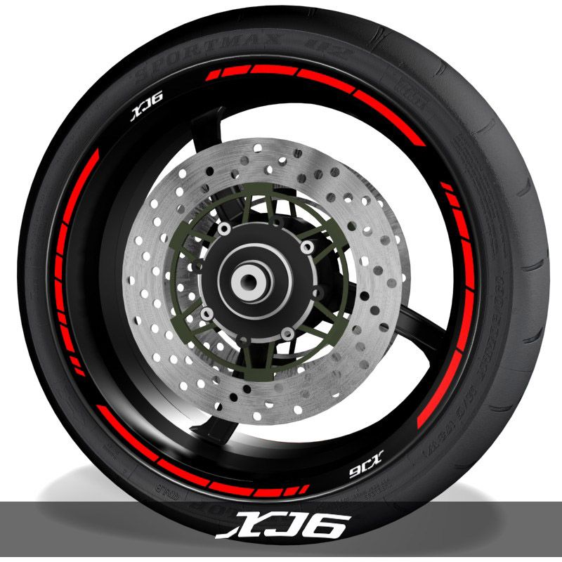 Vinilospegatinas para perfil de llantas logos Yamaha XJ6 speed
