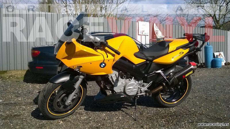 BMW F800S racevinyl vinilo llanta rueda pegatina adhesivo tuning vinyl sticker rim kit stripe Yellow 020