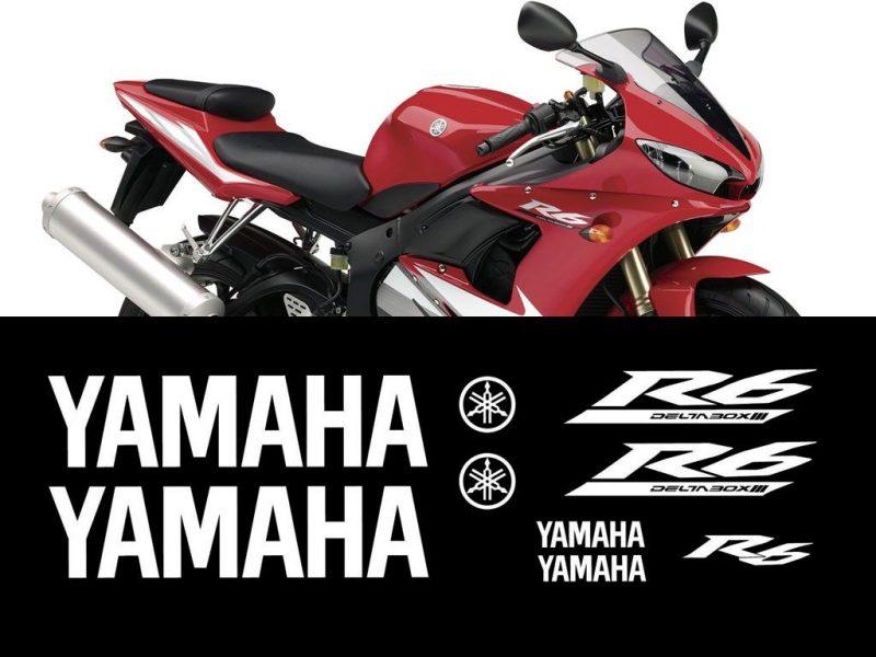 Kit de vinilos y adhesivos para el carenado de la Yamaha YZF R6 de 2005