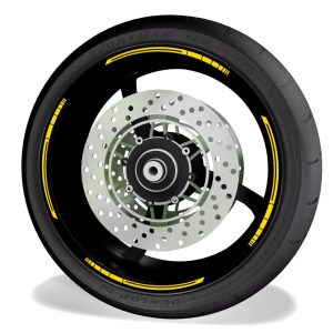 Rim Stripes Kit for without logos, compatible with Yamaha