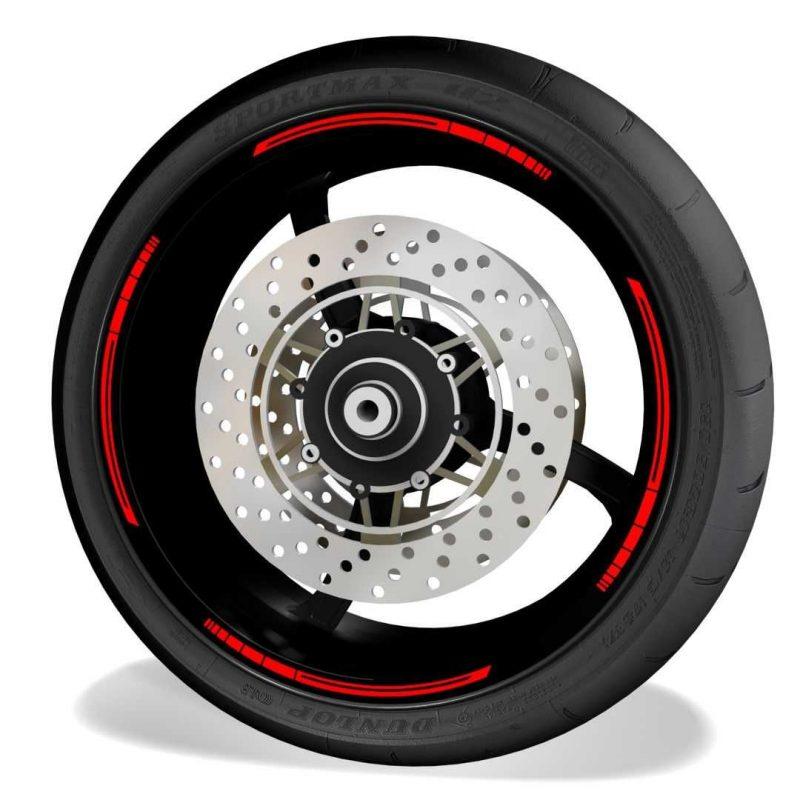 Vinilos Universales para el perfil de las llantas de moto blade Red