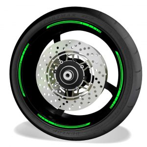Rim Stripes Kit for without logos, compatible with Kawasaki