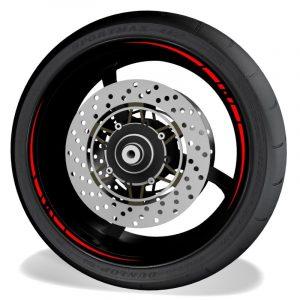 Pegatinas y vinilos para perfil de llantas de moto Race sin logo