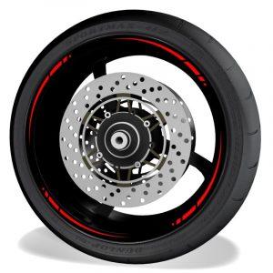 Adhesivos y vinilos para perfil de llantas de moto Spire sin logo Red
