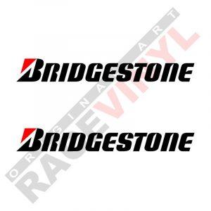 Adhesivos y pegatinas de sponsors para motos logo Bridgestone 2uds