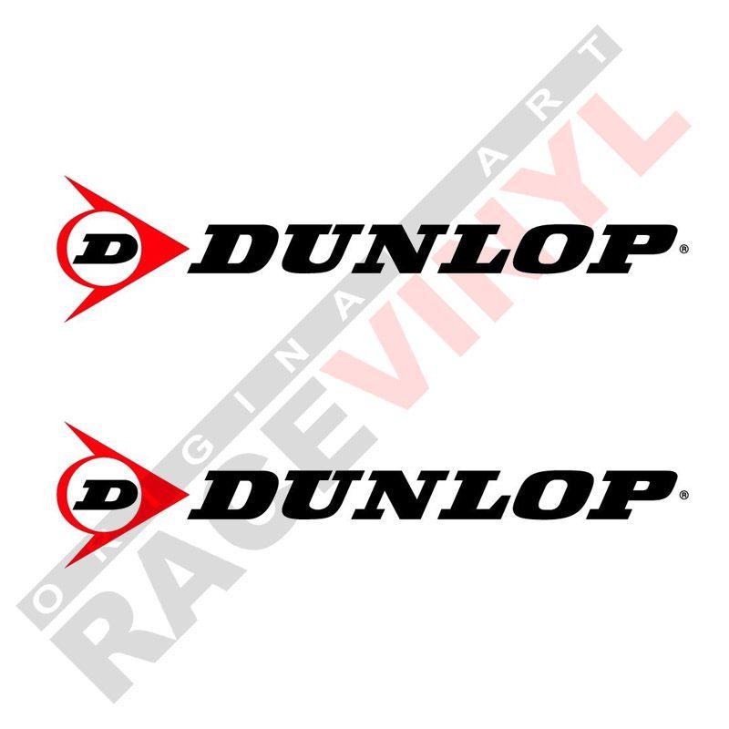 Vinilos y pegatinas de sponsors para motos logo Dunlop 2uds