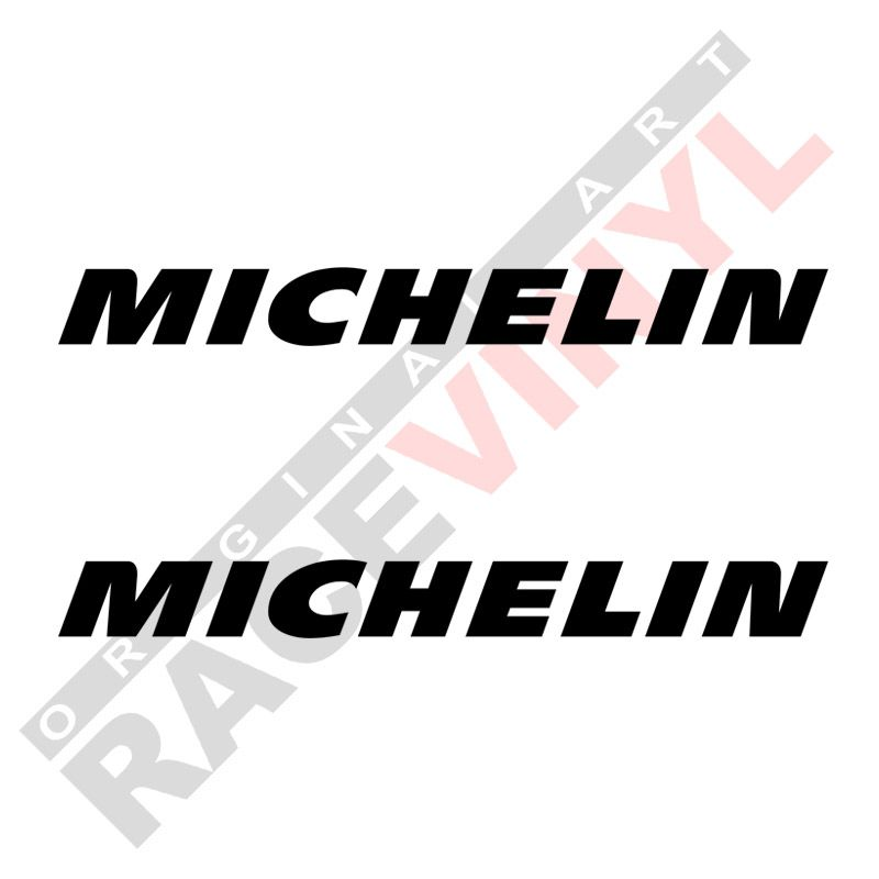 Vinilos y adhesivos de sponsors para motos logo Michelin 2uds